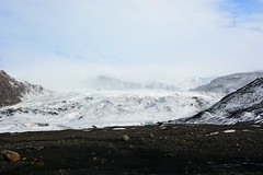 Sólheimajökull Glacier (Justin LaBerge) Tags: park travel blue light vacation sky white mountain snow mountains color ice nature water rock outdoors island iceland europe day tour view natural euro landmark scene reykjavik glacier icelandic destinations sólheimajökull