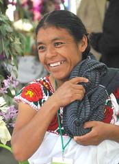 Zapotec Woman Oaxaca Mexico (Ilhuicamina) Tags: woman mexicana mexico mujer faces smiles fiestas mexican oaxaca zapoteca