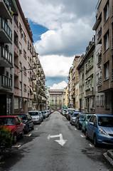 Where's left??? (Fornax) Tags: street city clouds buildings serbia sigma belgrade grad 1020 beograd srbija citystreet vracar ulica nikond7000