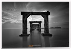 The Time Tunnel (Vin PSK) Tags: longexposure seascape landscape blackwhite thetimetunnel
