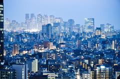Shinjuku skyline (marin.tomic) Tags: city travel blue urban japan skyline skyscraper asian japanese tokyo nikon shinjuku asia cityscape view citylights highrise nippon metropolis bluehour nightfall cityview tokio megacity d90