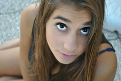 Eyes (Mary98b) Tags: girls summer italy eye girl beautiful mouth hair nice eyes italian nikon pretty estate occhi straight bocca italiana
