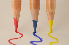 Primary Pencils (disgruntledbaker1) Tags: blue red macro colors yellow pencils nikon 60mm f8 primary f28 d90 disgruntledbaker1