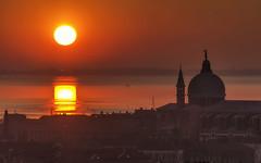 Sunset in Venice (Fil.ippo) Tags: venice sunset sun water nikon tramonto lagoon venezia filippo lagunaveneta chiesadelredentore d7000 filippobianchi