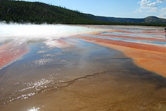 Grand Prismatic Spring (mike_jacobson1616) Tags: park nature pool wonder outdoors fire nationalpark spring scenery colorful natural scenic icon basin springs yellowstonenationalpark yellowstone features wyoming geyser visitors iconic geothermal eruption geysers grandprismaticspring grandprismatic midwaygeyserbasin viewfromthehill prismaticspring