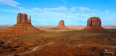 MONUMENT VALLEY (daumy) Tags: arizona orange usa monument nature rock pierre sable erosion valley gel froid mesa roche spectacle chaleur grandiose tatsunis immensit tendue
