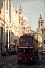 St Paul's Red Bus ( Jamie Mitchell) Tags: road city uk travel red england bus london church st architecture photography spring cathedral britain transport pauls double british decker