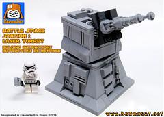 LASER TURRET COVER (baronsat) Tags: death star lego laser instructions custom turret