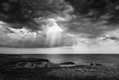 Big Sky (lichtschacht-kiel) Tags: light sky bw clouds licht panasonic northsea sw dnemark danmark nordsee lx100