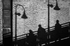 (133/366) Shadow Commute (CarusoPhoto) Tags: street city shadow urban chicago station wall train project john 50mm photo track day pentax el commute 365 elevated everyday f18 caruso smc ks2 366 pentaxda carusophoto