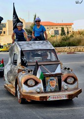 Palestinian refugees drive classic and custom cars during a rally to commemorate the 68th anniversary of the 'Nakba' in Ramallah (TeamPalestina) Tags: heritage beautiful architecture sunrise hope amazing photographer sweet palestine jerusalem domeoftherock blockade freepalestine alaqsa palestinian occupation goldendome  oldcityjerusalem landscapecaptures