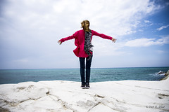 DSC_0261 (elisabeth_zh) Tags: blue red sea portrait sky italy woman white girl scarf hair happy photography freedom photo nikon flickr heaven paradise outdoor picture happiness blond passion scala gil dei springtime peacefull turchi mediterranium nikond7200