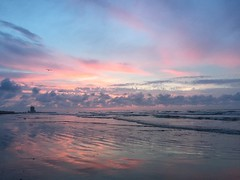 5-29-16 Sunrise (ThursdayGirl) Tags: galveston sunrise pinkclouds