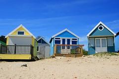Colourful beach huts (Steve M photography) Tags: christchurch beach coast southcoast mudeford hengistburyhead