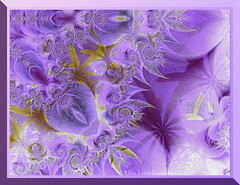 Purple Fantasy (Elisafox22 catching up again ;o)) Tags: abstract geometric photomanipulation photoshop gold golden purple patterns border lavender textures fractal photomanipulated postprocessing hss ipad photoborder sliderssunday elisafox22 elisaliddell©2016