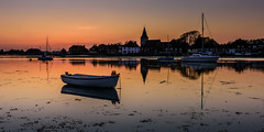 Bosham Afterglow (Explore 15-5-2016) (Sunset Snapper) Tags: uk creek reflections boats bosham nikon westsussex harbour may calm lee nd grad southcoast quaint saxonchurch 2016 2470mm floatingweed d810 sunsetsnapper boshamafterglow northerlybreezefilter