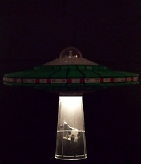 Abduction (apelcatrox) Tags: lego ufo flying saucer brick separator space alien slug 2016 abduction