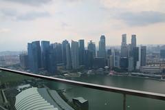 View from Marina Bay Sands (Singapore - May 15, 2016) (cseeman) Tags: city urban singapore overcast hazy celavi marinabaysands tradingcenter singapore2016 singaporetrading marinabaysands57