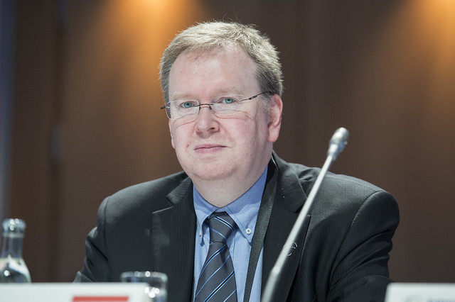 Guy Staus at the Closed Ministerial Session