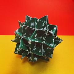 Origami Time! 22/53 Spike Ball # # # # # #papiroflexia #origami #paper #coingra #paperfolding #fold #foldedbyme #foldoftheday #instaorigami #Spring #ElParaiso #Sunday #May #29 #2016 #Caracas #Venezuela #chicoquick (chicoquick) Tags: paper spring origami venezuela sunday may caracas  fold 29 paperfolding papiroflexia   2016  elparaiso foldedbyme  chicoquick coingra foldoftheday instaorigami
