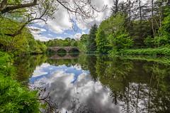 river almond (blairmchattiephotography) Tags: bridge blue sky green water clouds reflections river scotland nikon edinburgh outdoor almond h2o brig cramond d7000