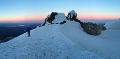 Sunrise on the Hogsback (Melinda Mary) Tags: oregon climbing cascades mthood mountaineering wyeast