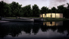 Lake House (ElkinXabier) Tags: house lake architecture lago casa 3d arquitectura render paisaje virtual 3dsmax vray visualizacion archviz