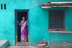 Living in her ocean of joy.. (nshrishikesh) Tags: cwc chennai weekend clickers chennaiweekendclickers parrys parryscorner street colors colorsofindia colorful souls photographer photography photowalk portrait candid canon canon600d color streetlife streetphotography flickr explore explorer passion photograph travel traveller india incredibleindia incredible roi rootsofindia