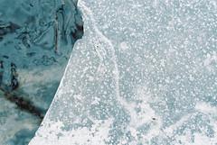(Doug J.) Tags: winter cold detail macro film ice water 35mm 50mm frozen nikon stream kodak details freeze f3 cracks portra 160 f3hp