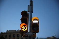 In the right direction (Castaphernalia) Tags: barcelona lights traffic signals metropolis