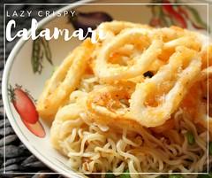 Lazy Crispy Calamari Noodle Dish (Suzie the Foodie www.suziethefoodie.com) Tags: dish crispy lazy noodles seafood noodle suzie calamari foodie