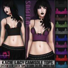 Sn@tch Kacie Lacy Camisole Tops Dark Vendor Ad LG (Tess-Ivey Deschanel) Tags: life new costumes summer sexy beach spring clothing punk designer omega style clothes sl jeans secondlife tropical second casual marketplace bathing outfits bathingsuit cyberpunk swimwear bikinis snatch camisole specials deschanel ivey newrelease clubwear newreleases sntch ihearts iveydeschanel omegasystem omegaappliers bellezabody