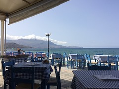 Cafe in Kissamos (goforchris) Tags: holidays crete cafes hfholidays hf kissamos westerncrete walkingholidays