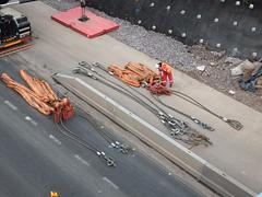 Mammoet Liebherr at the Raith (smokey pipes) Tags: crane motorway bridge construction m74 scotland slings sling rig rigup