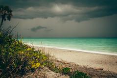 Caspersen Beach (J. Parker Natural Florida Photographer) Tags: longexposure venice sea storm beach gulfofmexico landscape sand colorful florida cloudy dramatic sarasota seaoats gulfcoast ndfilter 10stop nd1000