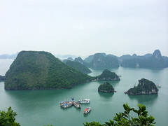 Halong Bay view from above (Evgeny Ermakov) Tags: above trip travel trees sea summer vacation color tree green heritage tourism nature water colors beautiful beauty rock forest relax observation landscape asian boats island freedom islands bay scenery holidays asia southeastasia paradise vietnamese view outdoor turquoise famous horizon hill relaxing scenic rocky lifestyle landmark scene tourist unescoworldheritagesite unesco hills vietnam exotic tropical destination tropic southeast relaxation viewpoint idyllic emerald halong halongbay touristic vn hiphng