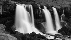 moments of thunderous beauty (lunaryuna) Tags: bw monochrome season landscape blackwhite waterfall iceland spring drop lunaryuna southiceland gluggafoss merkjafoss seasonalwonders rivermerkja