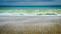 Toetoes Bay - nobody else here (Kathrin & Stefan) Tags: ocean newzealand beach nature water bay outdoor wave pebble southisland tasmansea fortrose foveauxstrait toetoesbay