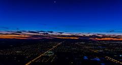 Nightime over Gilbert (Techjunkie00) Tags: blue sunset arizona sky moon dark stars az nighttime gilbert