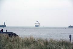 Pier you (quintinsmith_ip) Tags: sea people river fun ship down tourist disney passenger passing shipping southshields waltdisney disneymagic rivertyne