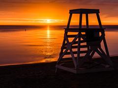 Sunrise on the sand (Q Win) Tags: sunset sky sun chicago beach set sunrise dawn illinois long exposure dusk lakeshoredrive lakeshore serene hdr lakefront bronzeville