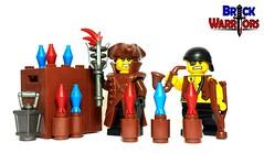 Happy July Fourth Weekend! (BrickWarriors - Ryan) Tags: brickwarriors custom lego minifigure weapons helmets armor july fourth fireworks pirates colonial tricorn coat lantern torch pipe