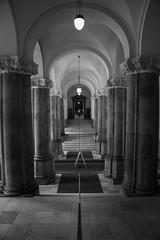 Symmetry (LAK.Photography) Tags: bw blackwhite portico copenhagen kopenhagen sulengang sw schwarzweis schwarzweiss symmetrie danmark dnemark denmark nikon d810