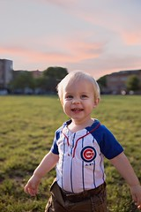 Baseball boy ~ (Now and Again ~) Tags: laugh 1yearold goldenhour holstein happy summer toddler cubs baseball chicago