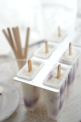 making (*tmk*) Tags: summer ice candy sweet cream blueberry vanilla sorbet popsicle