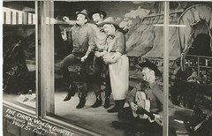 Chuck Wagon Quartet- Wall Drug, S.D.- 1953 (912greens) Tags: windows silly mannequins bands postcards storefronts stores drugstores fakepeople
