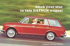 1967 Datsun Bluebird station wagon (Hugo90-) Tags: station ads advertising wagon nissan 1967 catalog bluebird brochure datsun 411 drucksache