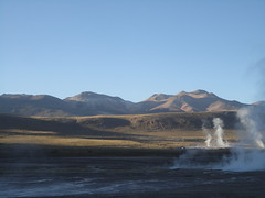 Fumaroles doing their thing in El Tatio geyser field (virharding) Tags: chile sanpedrodeatacama atacamadesert