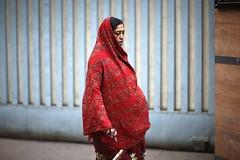 Heavy Air (N A Y E E M) Tags: woman hindu candid portrait morning winter street sarsonroad chittagong bangladesh carwindow