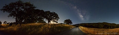 Lunar Excursions (philipleemiller) Tags: california nightphotography panorama nature stars landscape bigsur d800 milkyway countryroads santaluciarange waningmoon